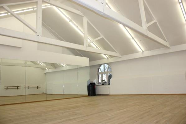 Ballettsaal, Rheine, Onstage, Spiegelseite, Ballet room